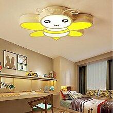 MOROY® Einfache Schmiedeeiserne Kreative Kinderzimmer Cartoon Biene Lampe Schlafzimmer Lampe Schlafzimmer Kindergarten Kinderzimmer Deckenleuchte , Warm