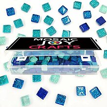 Mosaic Joy Mosaikfliesen zum Basteln, Blau,