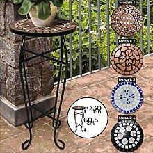 Mosaik Blumenständer - aus Metall und Keramik,