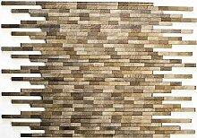 Mosaik Fliese Aluminium braun Verbund Alu Brick