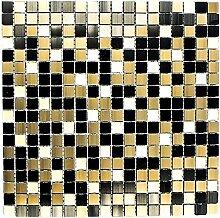 Mosaik Fliese Aluminium Transluzent Alu Glasmosaik