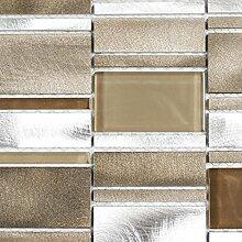 Mosaik Fliese Aluminium Transluzent Kombination