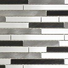 Mosaik Fliese Aluminium Verbund Alu alu grau