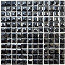 Mosaik Fliese ECO Recycling GLAS ECO schwarz