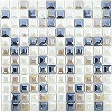 Mosaik Fliese ECO Recycling GLAS ECO weiß coffee