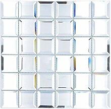 Mosaik Fliese Glasmosaik Quadrat Quadrat Mirror