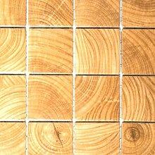 Mosaik Fliese Keramik beige Clico Holzoptik braun
