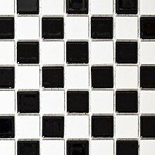 Mosaik Fliese Keramik schachbrett schwarz weiß