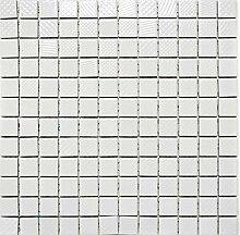 Mosaik Fliese Keramik schwarz Struktur weiß