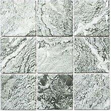 Mosaik Fliese Keramik Steinoptik Struktur grau
