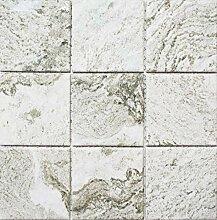 Mosaik Fliese Keramik Steinoptik Struktur hellgrau