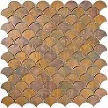 Mosaik Fliese Kupfer kupfer Fächer braun für
