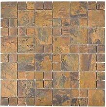 Mosaik Fliese Kupfer kupfer Kombination braun für