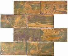 Mosaik Fliese Kupfer kupfer Subway braun für WAND
