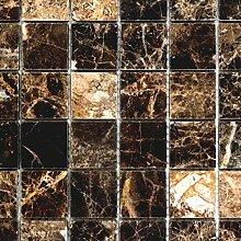 Mosaik Fliese Marmor Naturstein Impala braun