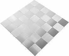 Mosaik Fliese Matte selbstklebend Aluminium