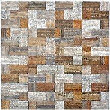 Mosaik Fliese selbstklebend Aluminium grau beige