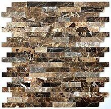 Mosaik Fliese selbstklebend Marmor Naturstein