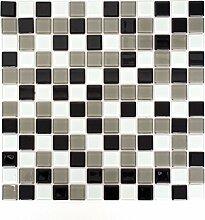 Mosaik Fliese selbstklebend Transluzent braun