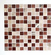 Mosaik Fliese selbstklebend Transluzent Stein