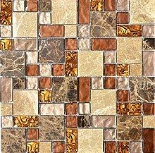 Mosaik Fliese Transluzent beige braun Kombination