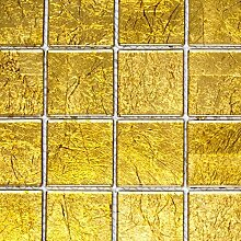 Mosaik Fliese Transluzent Glasmosaik Crystal gold