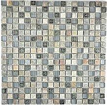 Mosaik Fliese Transluzent grau Glasmosaik Crystal