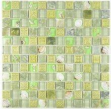 Mosaik Fliese Transluzent grün Glasmosaik Crystal