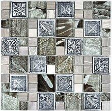 Mosaik Fliese Transluzent silber Kombination
