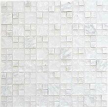 Mosaik Fliese Transluzent weiß Kombination