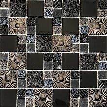 Mosaik Fliesen Matte in glänzendem und texturiert