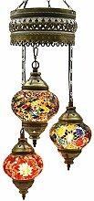 Mosaik-Kronleuchter, Mosaik-Lampe, türkische