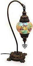 Mosaik Lampe Stehlampe Beistelllampe Tischleuchte aus Glas multicolor dekoration Gall&Zick Handarbeit Orientalisch