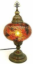 Mosaik Lampe Stehlampe Beistelllampe Tischleuchte aus Glas orange dekoration Gall&Zick Handarbeit Orientalisch