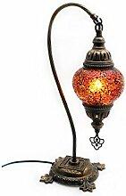 Mosaik Lampe Stehlampe Beistelllampe Tischleuchte aus Glas orange dekoration Gall&Zick Handarbeit Orientalisch Höhe ca 45cm