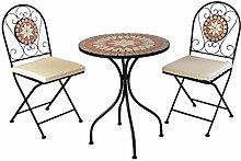 Mosaik Sitzgarnitur Sitzgruppe Gartentisch Stühle