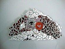 Mosaik-Spiegel, silberfarben, dreieckig, 2 mm