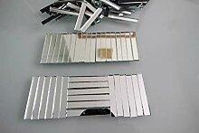 Mosaik-Spiegelglasstreifen 5x0,5cm, 2mm stark,