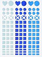 MOSAIK Sticker * hellblau - dunkelblau -