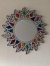 Mosaik Sun Wandspiegel Rainbow Fair Trade bunten