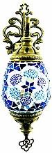 Mosaik Wandlampe Laterne (Blau-Stern)