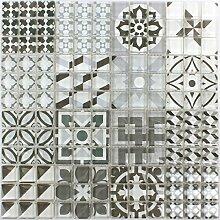 Mosaikfliesen Glas Inspiration Grau