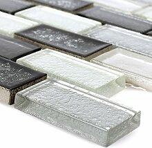 Mosaikfliesen Glas Keramik Mirasol Grau