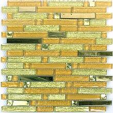 Mosaikfliesen Glas Metall Latoya Gold
