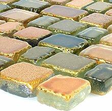 Mosaikfliesen Glas Roxy Gelb
