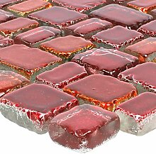 Mosaikfliesen Glas Roxy Rotorange