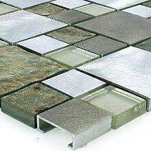 Mosaikfliesen Matten Banzai Naturstein Glas