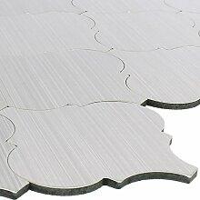 Mosaikfliesen Metall Selbstklebend Ensenada Silber