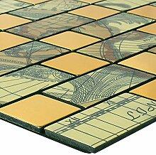 Mosaikfliesen Metall Selbstklebend Pinta Weltkarte