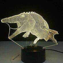 Mosasaurus Dinosaur 7 Farben Ändern 3D-Licht
